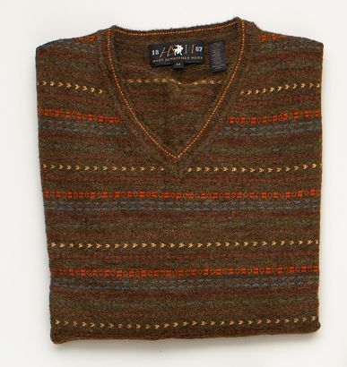 fair isle sweater lay down