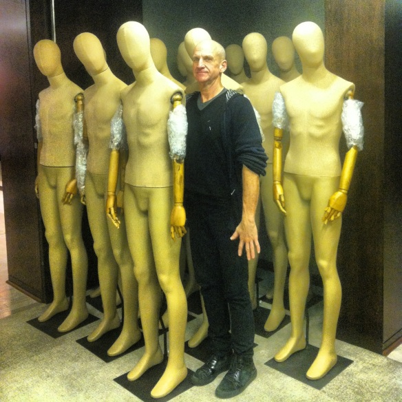 Tom Beebe, our rigging guru, with his army of mannequins.
